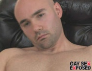 Shawed gay cock masturbation