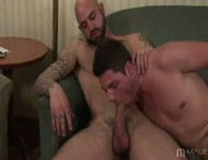 Etienne and his hunky boyfriend Zac exchange hot blow jobs