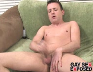 Shapely brunette gay Sean wanking