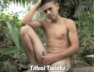 The Latin teenager alone outside masturbating